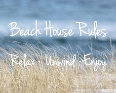 Beach House Rules  Beach Quotes  Coastal Wall Art  by NewLeafPics