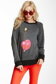 Cherry Bang Destroyed Sweater by Wildfox Couture on @HauteLook