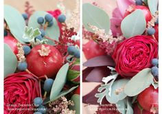 Baiciurina Olga's Design Room: Потрясающий букет невесты на винно-гранатовую свадьбу!-Gorgeous wine&pomegranate themed wedding bouquet! Pomegranate, Wedding Bouquets, Granada, Wedding Brooch Bouquets, Bridal Bouquets, Pomegranates, Wedding Bouquet, Wedding Flowers