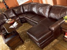 Ashley Sectional   Braxton   Java From National Furniture Liquidators In El  Paso, Tx. (915)593 5200 | Living Room | Pinterest | Ashley Sectional,  Leather ...