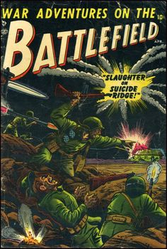 Battlefield comics #1, unknown cover artist, 1952