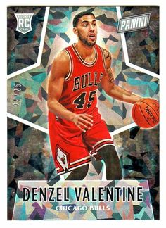2016 Panini Black Friday CRACKED ICE #60 DENZEL VALENTINE RC 24/25 Chicago Bulls