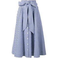 Lisa Marie Fernandez Gingham Check Full Skirt (585 CAD) ❤ liked on Polyvore featuring skirts, midi skirt, multi color skirt, lisa marie fernandez, colorful skirts and full midi skirt