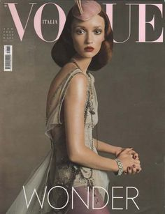 Vogue Italia I April 2003 I Model: Audrey Marnay I Photographer: Steven Meisel. Vogue Magazine Covers, Fashion Magazine Cover, Fashion Cover, Vogue Covers, Magazine Photos, Steven Meisel, Vogue Fashion, Fashion Hair, High Fashion