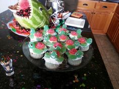 Squirt turtle cupcakes finding nemo party