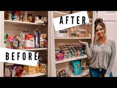 Clean & organize with me! So relieved to finally have this pantry done! Organizing Tips, Organization Hacks, Pantry Makeover, Small Pantry, Diy Furniture, Small Spaces, Organize, Basket, Cleaning