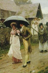 'A Wet Sunday Morning' by Edmund Blair Leighton The Art of Mr. E. Blair Leighton :: artmagick.com