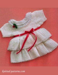 Crochet little dress free pattern