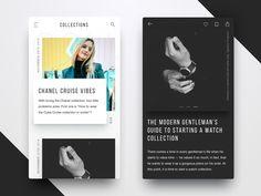 Blog design for Fashion magazine   by Dmitriy Kravchuk #Design Popular #Dribbble #shots