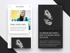 Blog design for Fashion magazine   by Dmitriy Kravchuk #Design Popular #Dribbble #shots