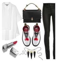 """""""Untitled #117"""" by tisshik ❤ liked on Polyvore featuring ElleSD, Lanvin, Fendi, Dr. Martens, Burberry and Christian Louboutin"""