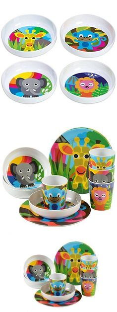 Eating and Drinking 115715: French Bull Bpa Free Kids Bowls Melamine Bowl Set Dinnerware Jungle Of 4 Eating -> BUY IT NOW ONLY: $31.35 on eBay!