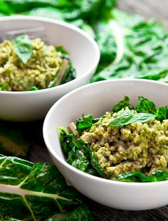 Pesto Brown Rice with Sautéed Swiss Chard | 34 Clean Eating Recipes You'll Actually Want To Eat