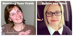 Dressing Your Truth: Before and After / http://www.cheeseslave.com/dressing-your-truth-before-after-photos/