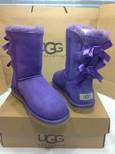 UGG Australia Women's Bailey Bow Purple Reign Color U.S Size 7 SO CUTE! #UGGAustralia #SnowWinter