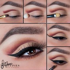 """We're slightly obsessed with this gorgeous Cut Crease by #MotivesMaven @elymarino using All #MotivesCosmetics #GetTheLook : 1. Using """"Boudoir"""" apply slightly above the crease (Using your own eye shape) with a flat angled brush. Then taking a small brush blend the line upward and outward slightly 2. With a fluffy brush and the color """"Temperature Rising"""" blend out even further till there is a smooth transition between colors 3. Taking """"Timeless"""" pat onto the entire lid 4. Line the eyes…"""