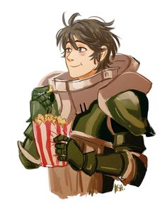 Stahl eating popcorn like the foodie he is
