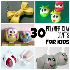 30 Adorable Polymer Clay Crafts Kids Can Do.  Yay.. Easy instructions ;-) My girls will love the Club Penguin figures...