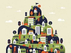 Matt Carlson Illustrator + Graphic Designer – Hillside Town