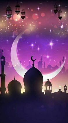 25 beautiful ramadan wallpaper for your iphone 41 - Holiday Everyday Islamic Wallpaper Hd, Lion Wallpaper, New Background Images, Theme Background, Eid Islam, Ramzan Images, Wallpaper Ramadhan, Watercolor Night Sky, Ramadan Wishes
