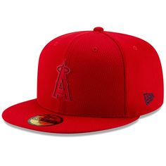 6f3e467282a58 Men s Los Angeles Angels New Era Red 2019 Clubhouse Collection 59FIFTY  Fitted Hat