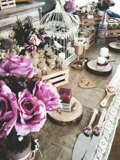 Rustic Nişan Masası
