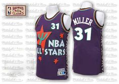 Reggie Miller jersey-Buy 100% official Adidas Reggie Miller Men's Authentic 1995 All Star Purple Jersey Throwback NBA Indiana Pacers #31 Free Shipping.