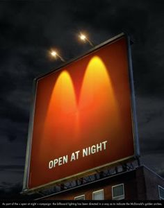 outdoor advertising | M - Open at night