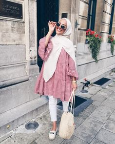 New fashion hijab outfits casual muslim - hijab outfit Modern Hijab Fashion, Street Hijab Fashion, Hijab Fashion Inspiration, Muslim Fashion, Mode Inspiration, Modest Fashion, Hijab Fashion Casual, Hijab Fashion Summer, Casual Hijab Styles