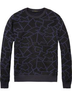 Gemusterter Pullover | Pullover | Herrenbekleidung von Scotch & Soda