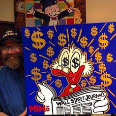 Rich Money Quotes - - Money Tips For Teens - Money Management Notebook - - Cute Canvas Paintings, Small Canvas Art, Mini Canvas Art, Acrylic Painting Canvas, Disney Pop Art, Olaf Drawing, Dagobert Duck, Graffiti Pictures, Trippy Painting