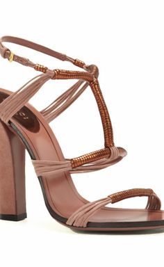 Gucci Burnt Orange Metallic Leather Wrapped Over Pink Suede Sandal Sandal Fashion Hub, Suede Sandals, Metallic Leather, Luxury Consignment, Burnt Orange, Gucci, Pink, Shoes, Zapatos