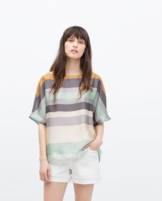 KIMONO SLEEVE STRIPED BLOUSE - View all - Tops - WOMAN | ZARA United States