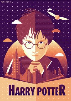 harry potter minimalist posters. art by risa rodil.