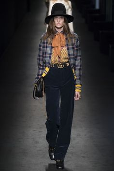 Gucci, Milan Fashion Week, Fashion Week, Italy, Vintage, Orange, Blue, Yellow,