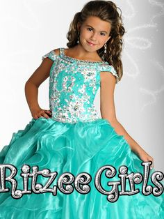 Lace Ritzee Girls Pageant Dress 6907|PageantDesigns.com