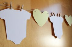 Baby Shower Bunting / Banner / Garland / Heart by MakeItMerryShop Baby Shower Bunting, Baby Shower Themes, Gender Reveal Banner, Bunting Banner, Baby Gender, Welcome Baby, Clothes Line, Light Beige, Baby Bodysuit