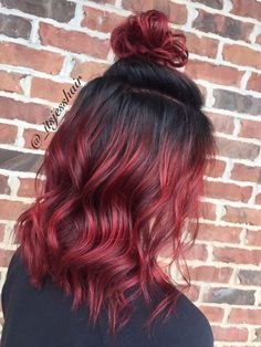 Image result for style for red and pink hair dye