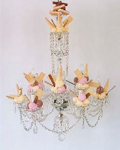 I've got to do this. Ice cream and chandelier. What could be better?