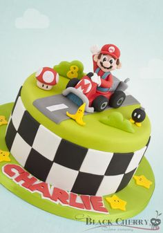 Lets a go, Mario! Mario Birthday Cake, 6th Birthday Cakes, Unique Birthday Cakes, Super Mario Birthday, Super Mario Party, Luigi Cake, Mario Kart Cake, Mario Bros Cake, Bolo Fondant