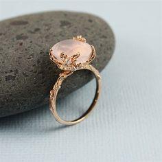 Nature Rose Quartz Ring