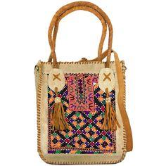 Vintage Addiction Tan Suede & Vintage Fabric Shoulder Bag ($250) ❤ liked on Polyvore featuring bags, handbags, shoulder bags, tan, suede purse, shoulder strap handbags, suede leather handbags, pocket purse and vintage purse