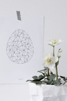 If you are looking for a unique or minimal design for Easter make your decoration by being inspired by the Scandinavian design. The Nordics know better when it comes to home design, so here are ten id