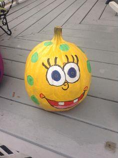 Decorated pumpkins sponge bob