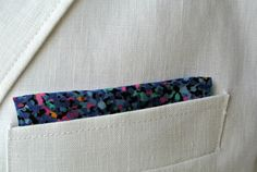 Mens Handkerchief  Hand Rolled Pocket Square  for Him  by ClassA