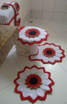 Bathroom Carpet At Sears Bathroom Carpet At Sears. Crochet Home, Crochet Crafts, Crochet Doilies, Crochet Flowers, Crochet Projects, Knit Crochet, Pinterest Crochet, Bathroom Sets, Crochet Accessories