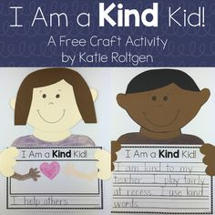 Kindness Craftivity #kindnessnation - This craftivity is perfect for Martin Luther King Jr. Day, Valentine's Day, or anytime you're celebrating the importance of kindness with your students! Copy the templates or trace them onto construction paper. There are four options for the writing page so you can use the activity with a variety of ages. Great for classroom community building in the preschool, Kindergarten, 1st, or 2nd grade classroom.