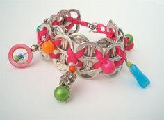 Bracelete de anel de latinhas de alumínio