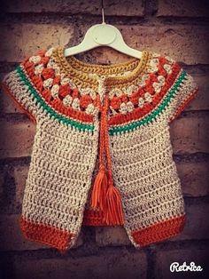 Crochet Dress Girl, Baby Girl Crochet, Crochet Baby Clothes, Crochet Woman, Crochet Cardigan, Crochet Sweater Design, Baby Cardigan, Crochet Diy, Crochet For Kids