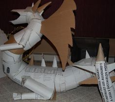 Can build anything out of a bit of cardboard and some Tape! Dragon Halloween, Halloween Iii, Halloween Projects, Halloween House, Holidays Halloween, Halloween Themes, Halloween Pumpkins, Halloween Decorations, Halloween Costumes